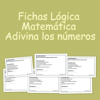 Fichas Lógica Matemática. Adivina los números