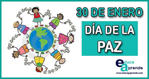 Día De La Paz 30 De Enero Día De La No Violencia Y De La Paz