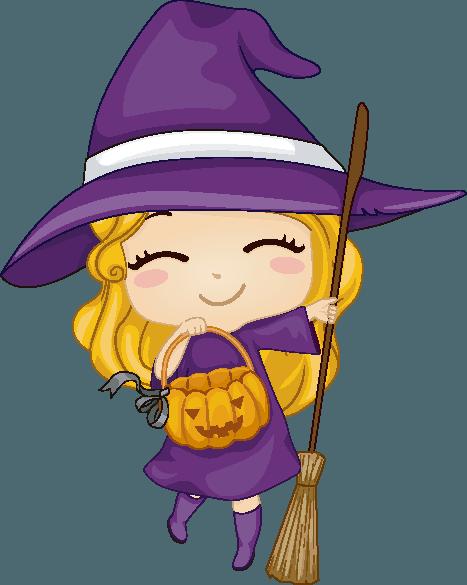 Cuento Infantil: La mágia de la pequeña bruja