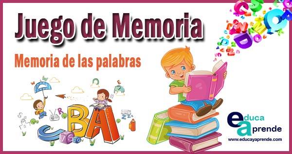juego de memoria, desarrollar la memoria, capacidad de atención