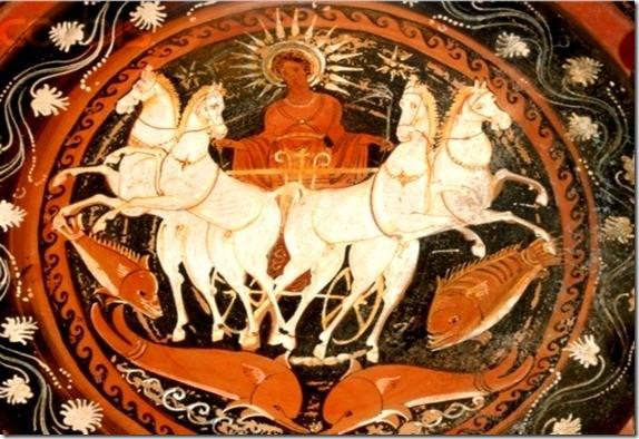 Helios, Dios del Sol y su hijo Faetón