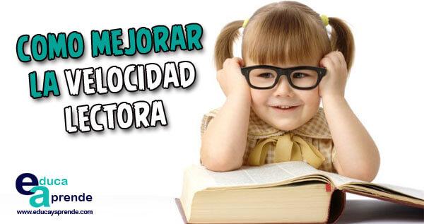 velocidad lectora, fluidez lectora, lectura rápida