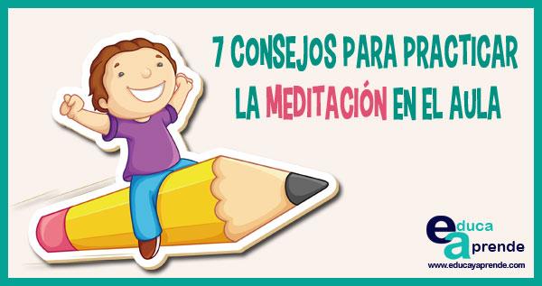 meditación en el aula