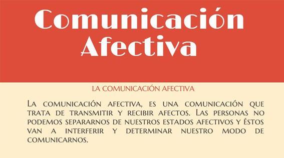 Infografía: La comunicación afectiva