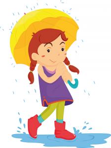 niña lluvia